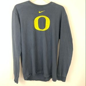 Nike University of Oregon Ducks Long Sleeve Tee L